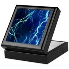 Cyan Lightning Look Keepsake Box