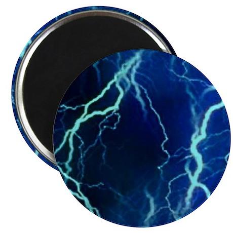 Cyan Lightning Look Magnet