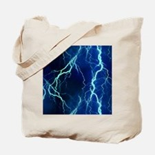 Cyan Lightning Look Tote Bag
