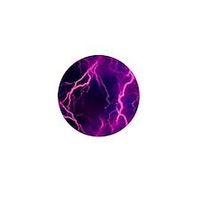 Pink Lightning Look Mini Button