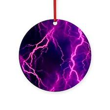 Pink Lightning Look Ornament (Round)