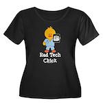 Rad Tech Chick Women's Plus Size Scoop Neck Dark T
