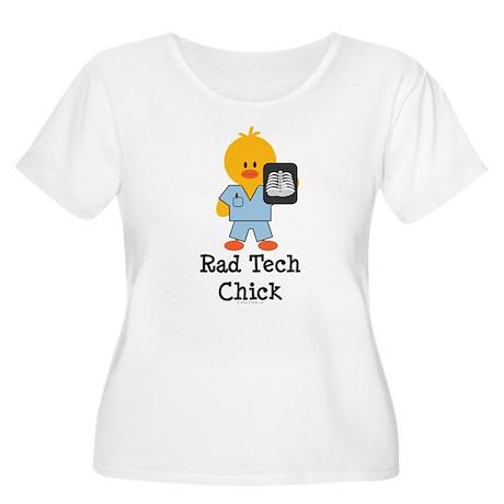 Rad Tech Chick Women's Plus Size Scoop Neck T-Shir