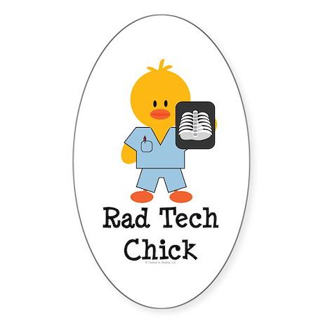 Rad Tech Chick Oval Sticker