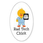 Rad Tech Chick Oval Sticker (10 pk)
