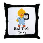 Rad Tech Chick Throw Pillow