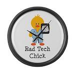 Rad Tech Chick Large Wall Clock