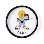 Rad Tech Chick Wall Clock