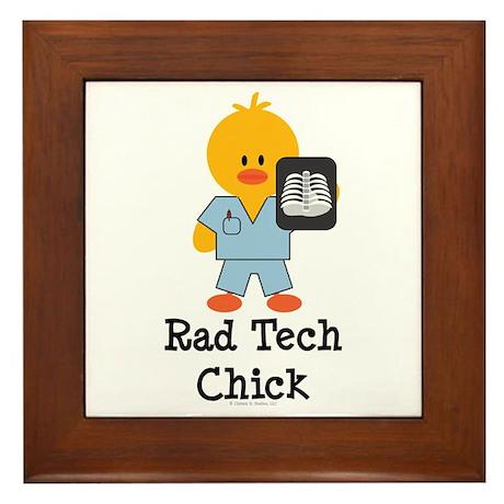Rad Tech Chick Framed Tile