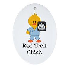 Rad Tech Chick Oval Ornament