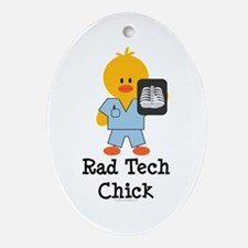 Rad Tech Chick Oval Ornament