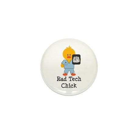 Rad Tech Chick Mini Button (100 pack)