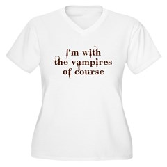 With the Vampires Women's Plus Size V-Neck T-Shirt