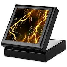 Gold Lightning Look Keepsake Box