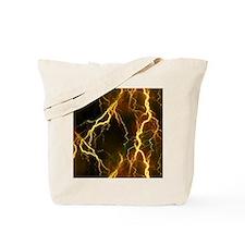 Gold Lightning Look Tote Bag