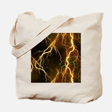Gold Lightning Look Tote Bag