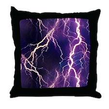 White Lightning Look Throw Pillow