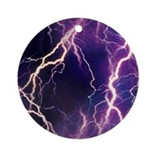 White Lightning Look Ornament (Round)