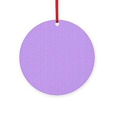 Lavender Satin Look Ornament (Round)