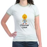 Oncology Chick Jr. Ringer T-Shirt