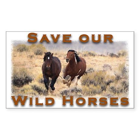 Wild Horses Rectangle Sticker