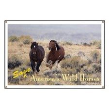 Save America's Wild Horses Banner