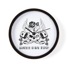Rods & Roses (Black) Wall Clock