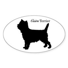 Cairn Terrier Silhouette Oval Decal