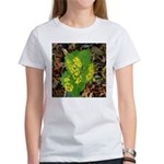 Yellow Flowers On Green Leaves Women's T-Shirt