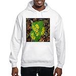 Yellow Flowers On Green Leaves Hooded Sweatshirt