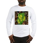 Yellow Flowers On Green Leaves Long Sleeve T-Shirt