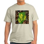 Yellow Flowers On Green Leaves Ash Grey T-Shirt