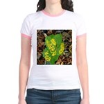 Yellow Flowers On Green Leaves Jr. Ringer T-Shirt