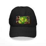 Yellow Flowers On Green Leaves Black Cap