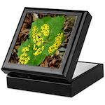 Yellow Flowers On Green Leaves Keepsake Box