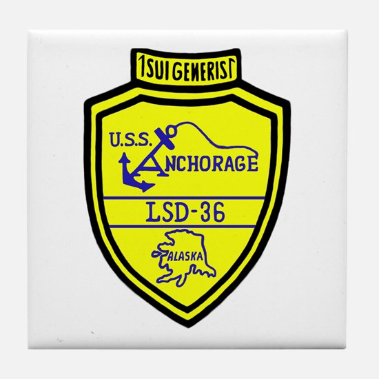 USS Anchorage (LSD 36) Tile Coaster
