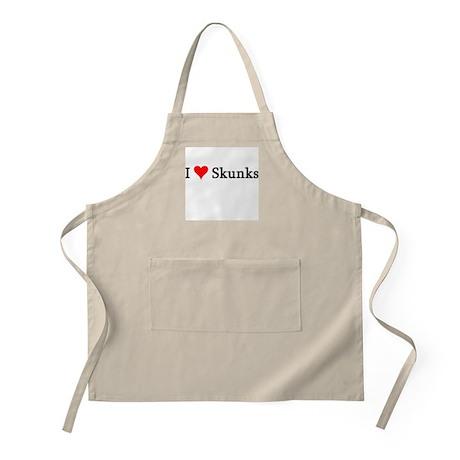 I Love Skunks BBQ Apron