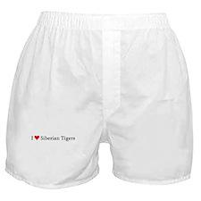 I Love Siberian Tigers Boxer Shorts