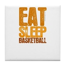 EAT SLEEP BASKETBALL Tile Coaster