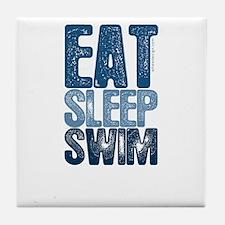 EAT SLEEP SWIM Tile Coaster
