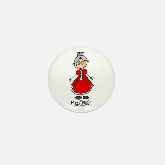 Mrs. Santa Claus Mini Button