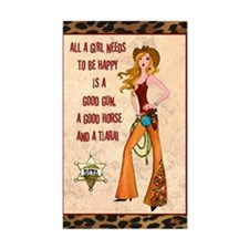"""""""All A Cowgirl Needs"""" Stickers (10)"""