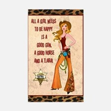 """All A Cowgirl Needs"" Stickers (10)"