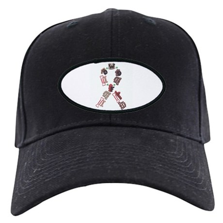 Woof Ribbon Black Cap