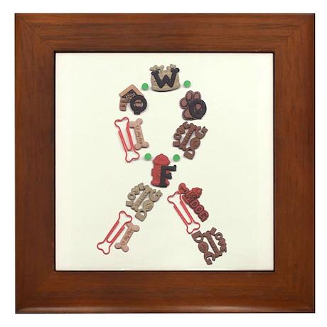 Woof Ribbon Framed Tile