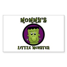Mommy's Little Monster Rectangle Decal