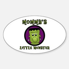 Mommy's Little Monster Oval Decal