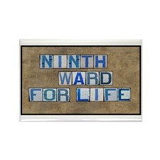 Ninth Ward for Life Rectangle Magnet