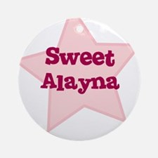 Sweet Alayna Ornament (Round)