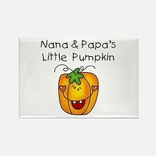 Nana and Papa's Pumpkin Rectangle Magnet